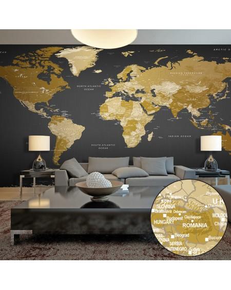 XXL stenska poslikava World Map Modern Geography II