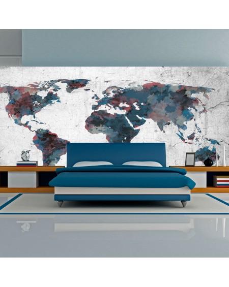 XXL stenska poslikava World map on the wall