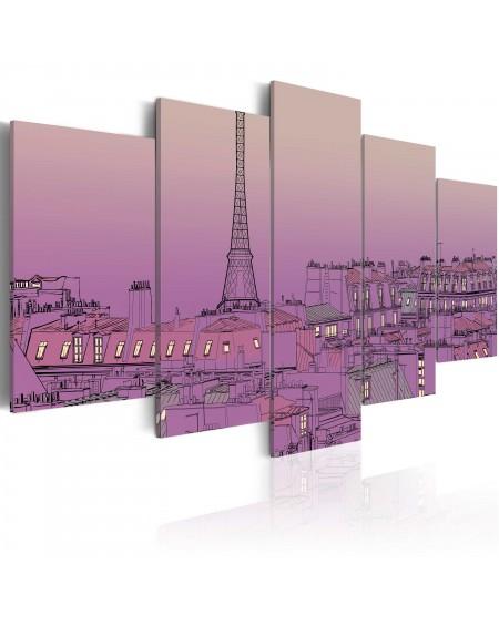 Slika Lavender sunrise over Paris