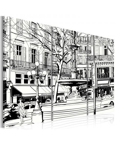 Slika Sketch of Parisian square