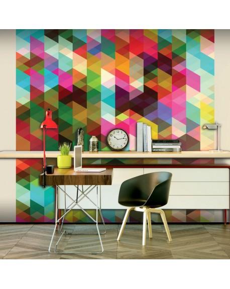 Stenska poslikava Colourful Geometry