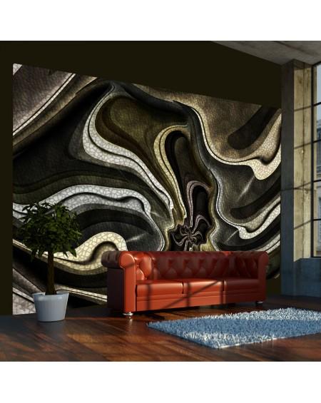 Stenska poslikava - Green and brown textured fractal