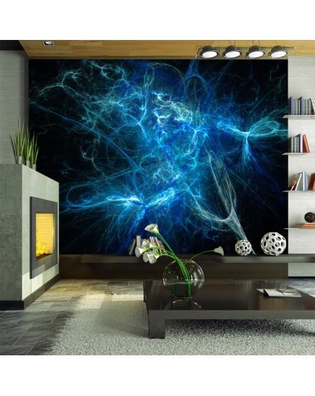 Stenska poslikava - Blue lightning bolts