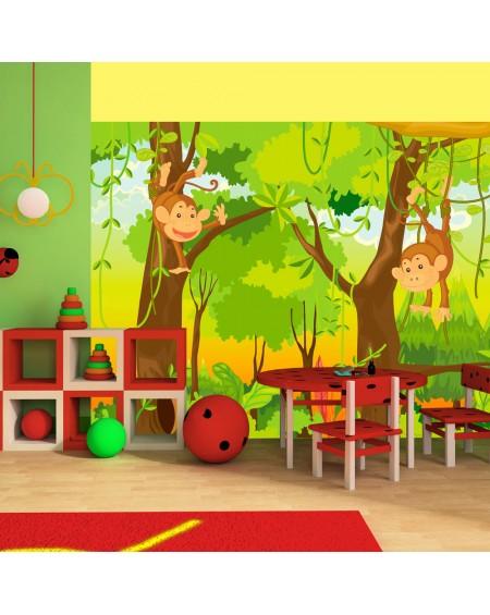 Stenska poslikava - jungle - monkeys
