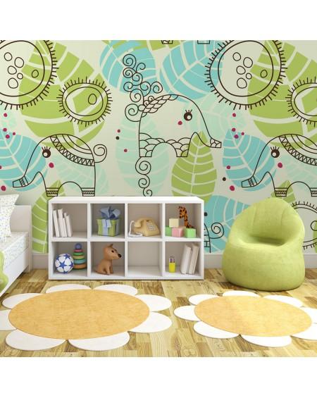 Stenska poslikava - elephants (for children)