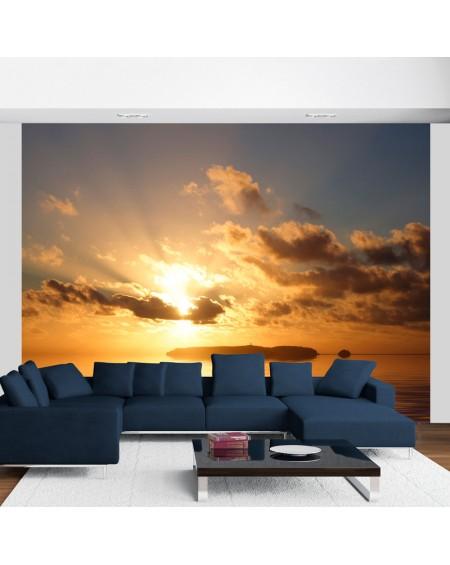 Stenska poslikava - sea - sunset