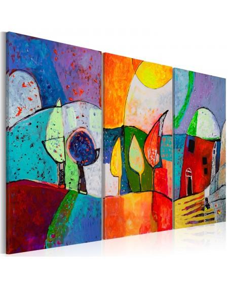 Ročno naslikana slika Colourful landscape