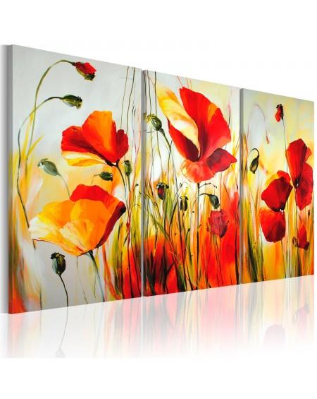 Ročno naslikana slika Red meadow