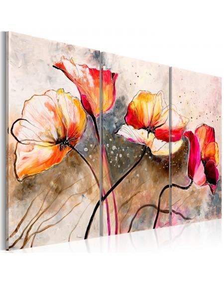 Ročno naslikana slika Poppies lashed by the wind