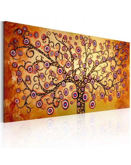 Ročno naslikana slika Peacock tree