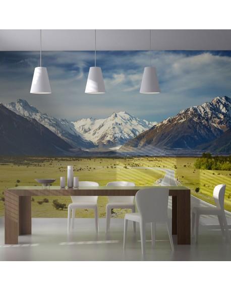 Stenska poslikava Southern Alps, New Zealand