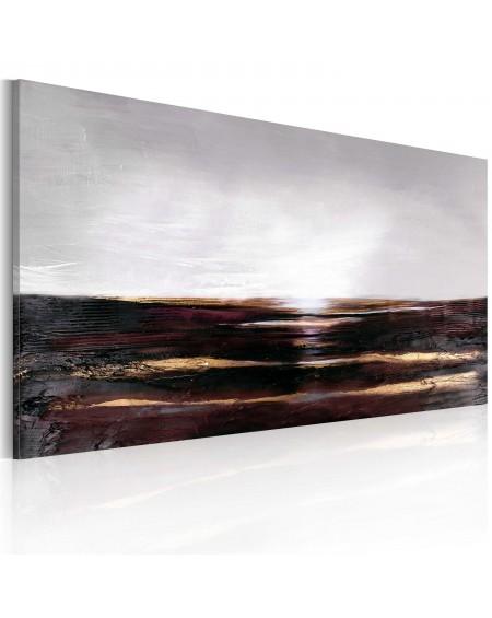 Ročno naslikana slika Black ocean