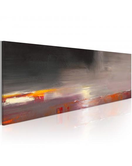 Ročno naslikana slika Foggy sea