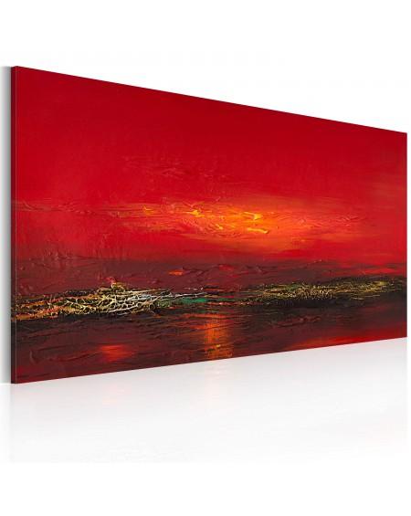 Ročno naslikana slika Red sunset over the sea