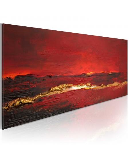 Ročno naslikana slika Redness of the ocean