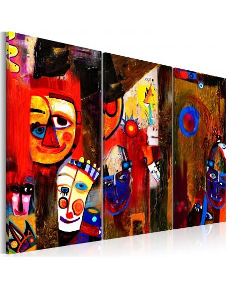Ročno naslikana slika Abstract Carnival