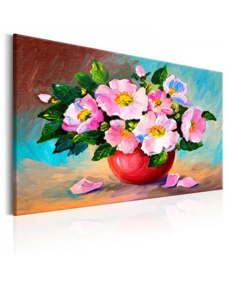 Ročno naslikana slika Spring Bunch