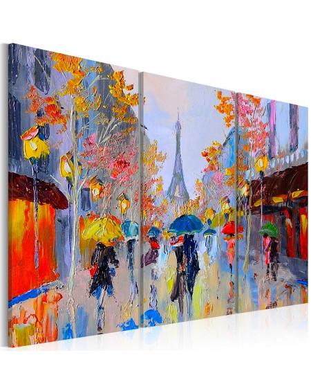 Ročno naslikana slika Rainy Paris