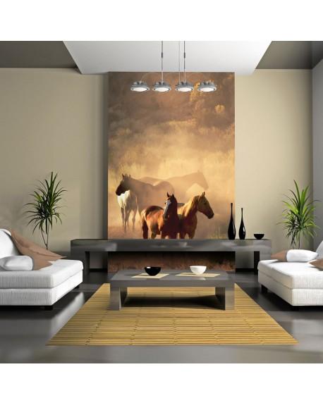 Stenska poslikava Wild horses of the steppe