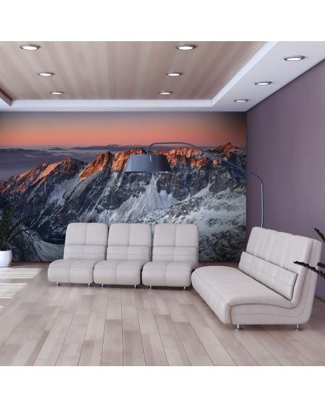 Stenska poslikava Beautiful sunrise in the Rocky Mountains