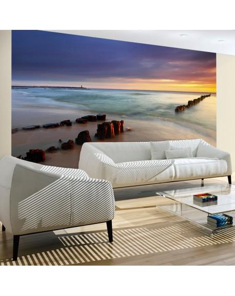 Stenska poslikava beach sunrise