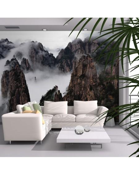 Stenska poslikava - Sea of clouds in Huangshan Mountain, China