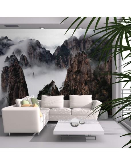 Stenska poslikava Sea of clouds in Huangshan Mountain, China
