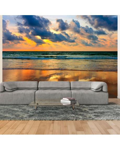 Stenska poslikava Colorful sunset over the sea