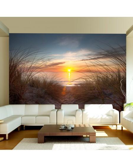Stenska poslikava Sunset over the Atlantic Ocean
