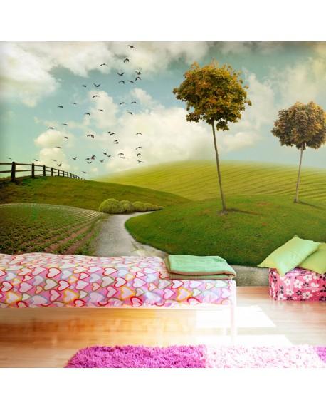 Stenska poslikava autumn landscape