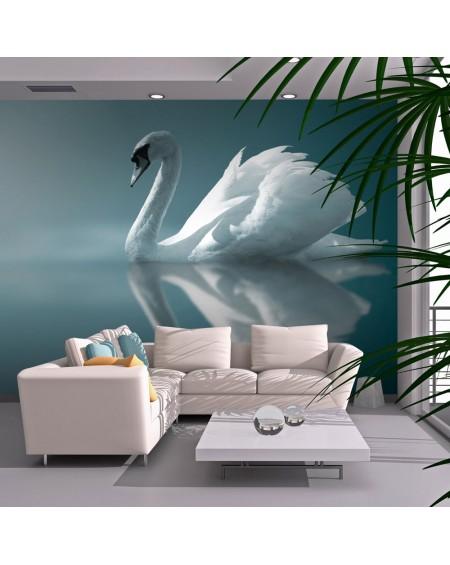 Stenska poslikava - White swan