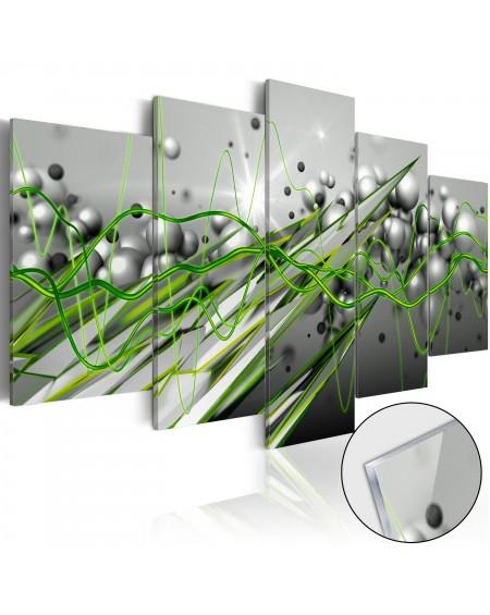 Akrilni tisk - Green Rhythm [Glass]