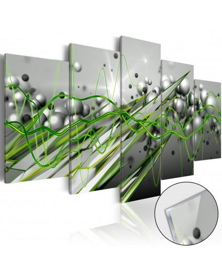 Akrilni tisk Green Rhythm [Glass]