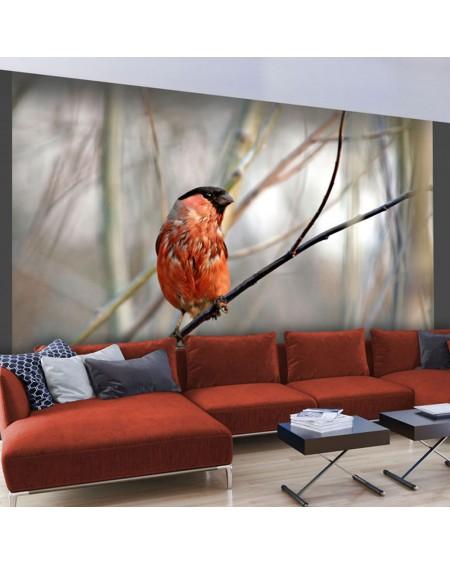 Stenska poslikava - Bullfinch in the forest