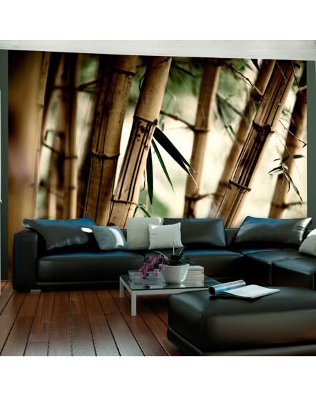 Stenska poslikava Fog and bamboo forest