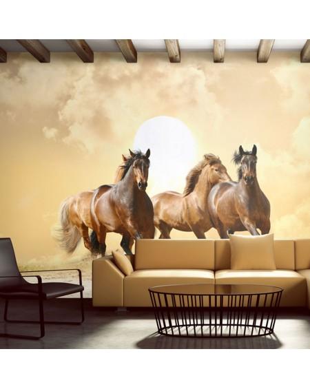Stenska poslikava - Running horses