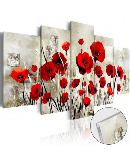 Akrilni tisk Scarlet Field [Glass]