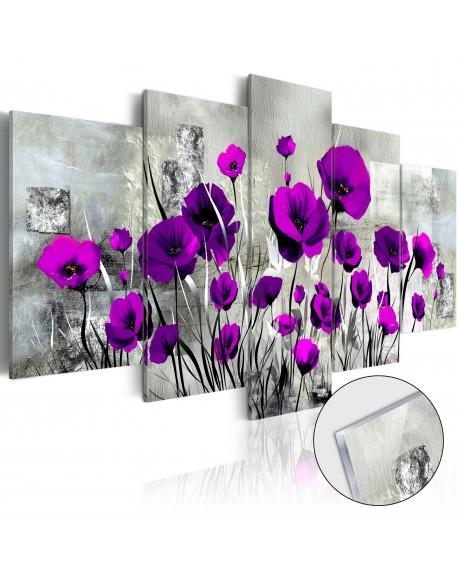 Akrilni tisk Meadow Purple Poppies [Glass]