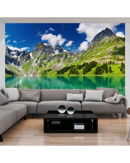 Stenska poslikava - Mountain lake