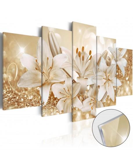 Akrilni tisk Golden Bouquet [Glass]