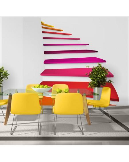 Stenska poslikava Colorful stairs
