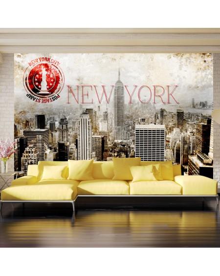 Stenska poslikava New York POST AGE STAMP