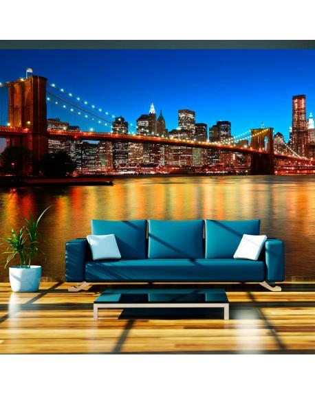 Stenska poslikava Dusk over the Brooklyn Bridge