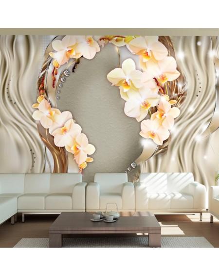Stenska poslikava Wreath of orchids