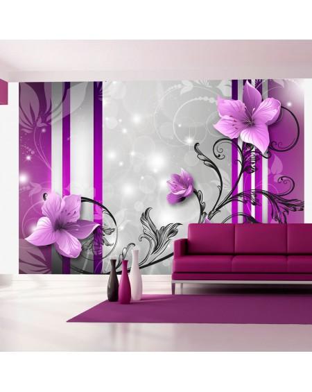 Stenska poslikava Violet buds