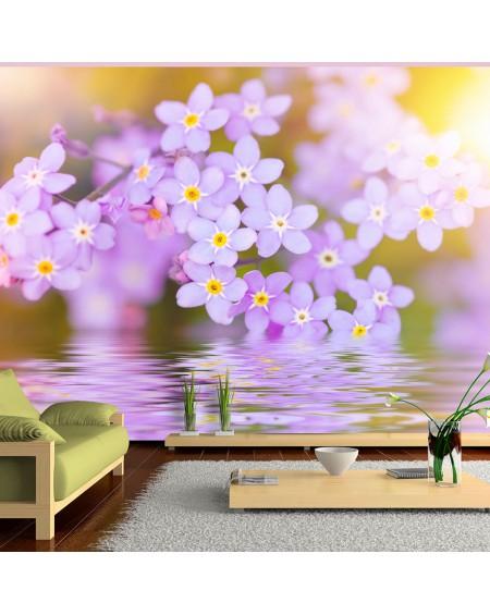 Stenska poslikava Violet Petals In Bloom