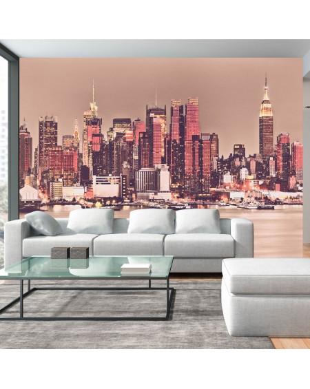 Stenska poslikava NY Midtown Manhattan Skyline