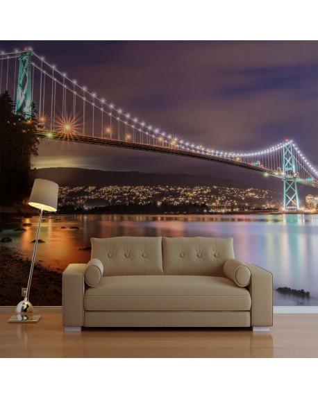 Stenska poslikava Lions Gate Bridge Vancouver (Canada)