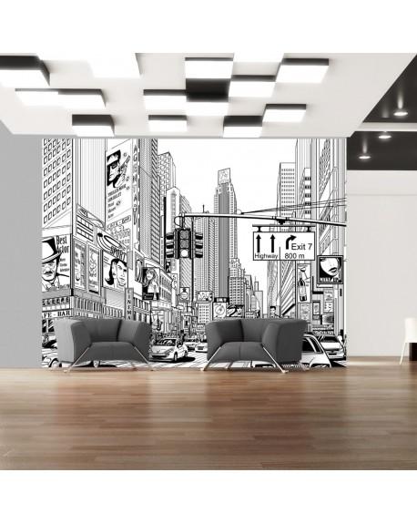 Stenska poslikava Street in New York city