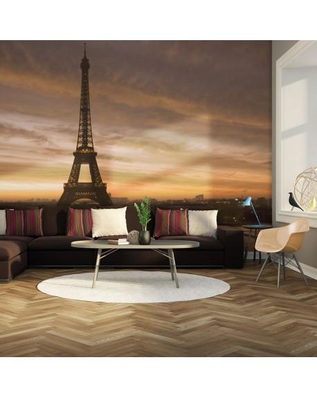Stenska poslikava Eiffel tower at dawn